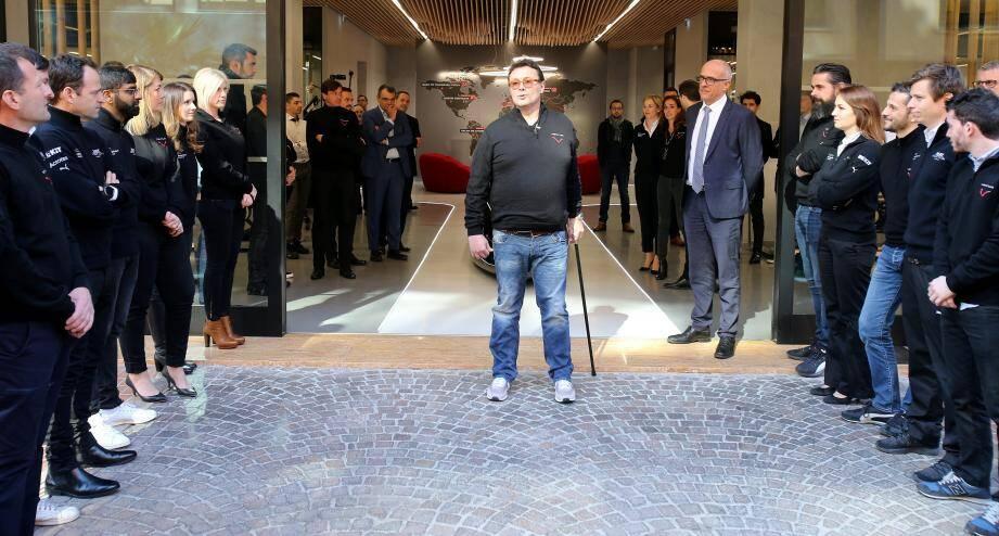Gildo Pastor lors de l'inauguration des nouveaux locaux de Venturi, ce mercredi à Monaco.