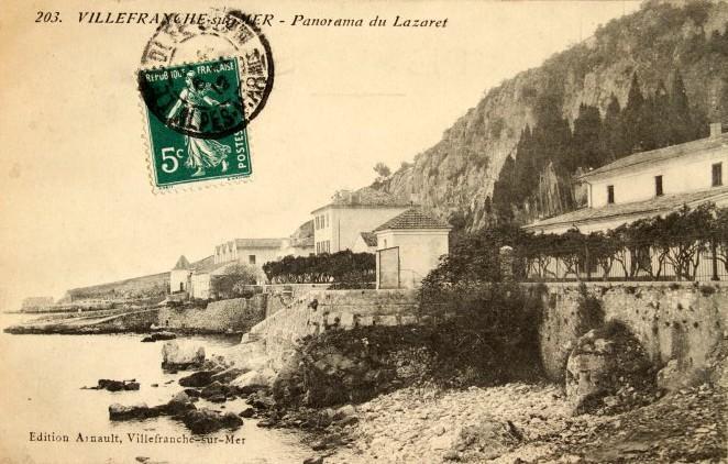 Carte postale du quartier du lazaret, vers 1910.