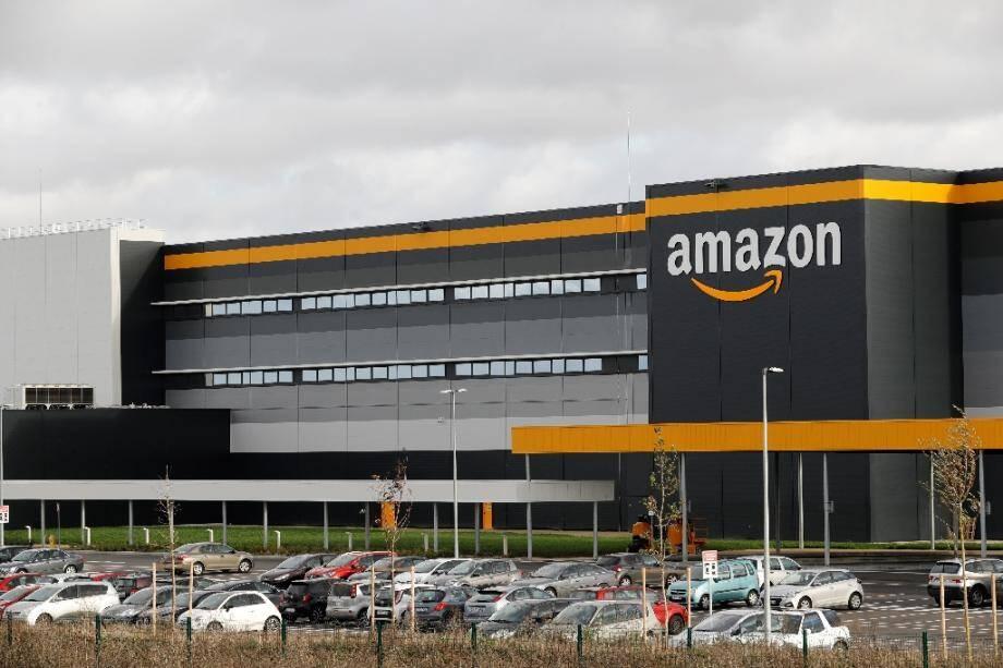 L'entrepôt Amazon de Brétigny-sur-Orge (Essonne) le 28 novembre 2019