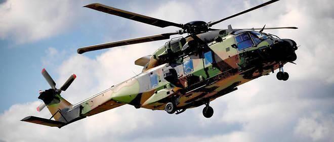 Un hélicoptère NH90 Caïman français de l'aviation légère de l'armée de terre (ALAT) en septembre 2018. Illustration.