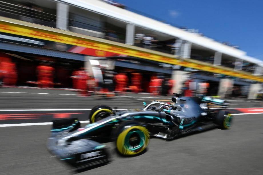Le pilote britannique Lewis Hamilton (Mercedes) pendant les qualifications du Grand Prix de France de F1 au Castellet (Var), le 22 juin 2019.