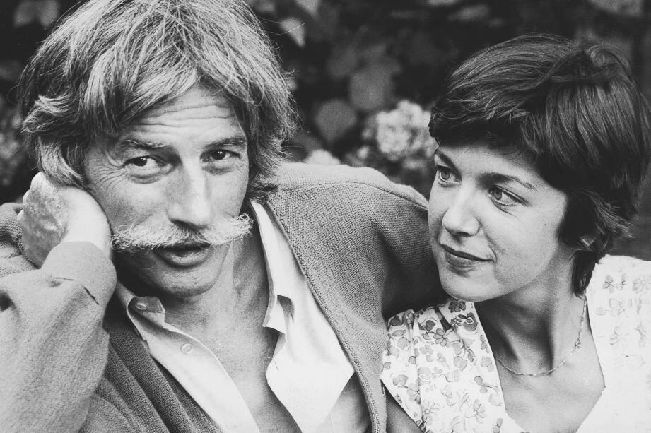 Jean Ferrat et Véronique Estel.