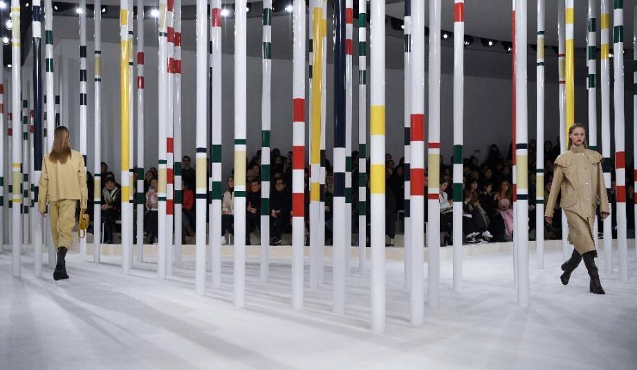 Défile de la collection automne/hiver 2020-2021 chez Hermès, en février 2020 à Paris