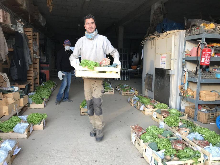 Privés de marché, certains agriculteurs, comme Olivier Campana à la Roquette-sur-Siagne, sont passés en mode panier pour pouvoir écouler leurs cultures et servir au mieux les consommateurs confinés.