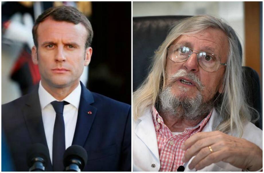 Emmanuel Macron a  rencontré le professeur Raoult à Marseille en avril.