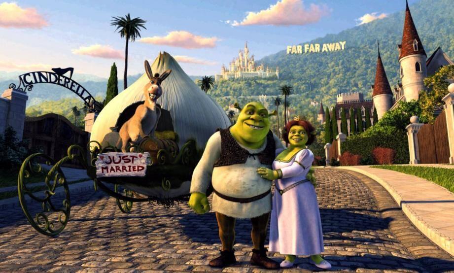 Dans Shrek 2, l'ogre, s'est récemment marié à Fiona.