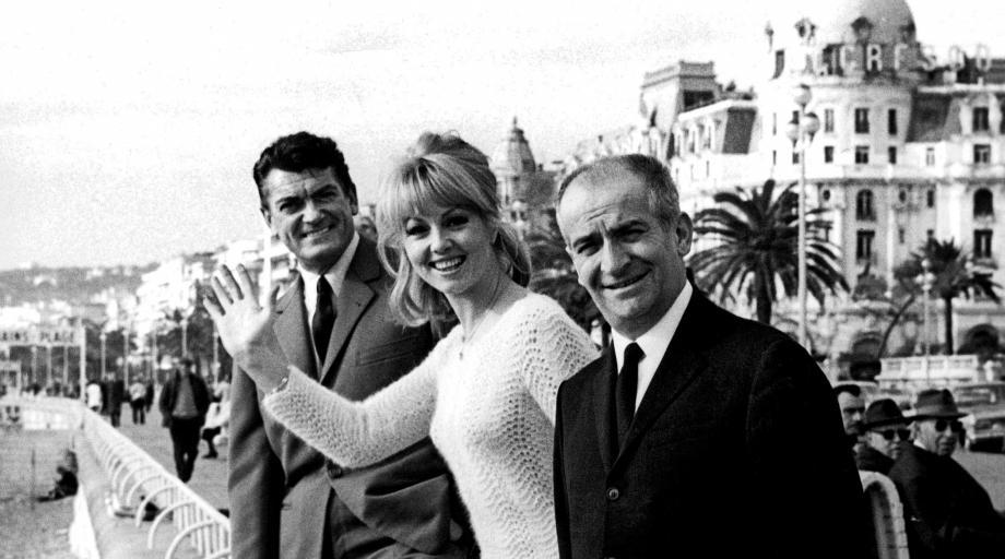 Jean Marais, Mylène Demongeot et Louis de Funès.