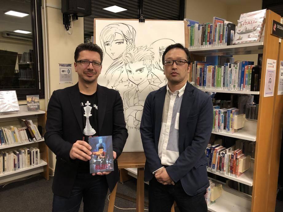 Cédric Biscay et Daitaro Nishihara avaient révélé le manga en avant-première à la médiathèque de Monaco.