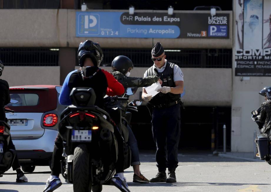 Opération de contrôles à Nice.