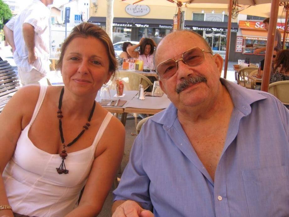 Christine au côté de son père Jacques Petitgirard, il y a quelques années à Cagnes-sur-Mer.