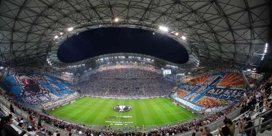 Le stade Vélodrome lors d'un match de l'OM.