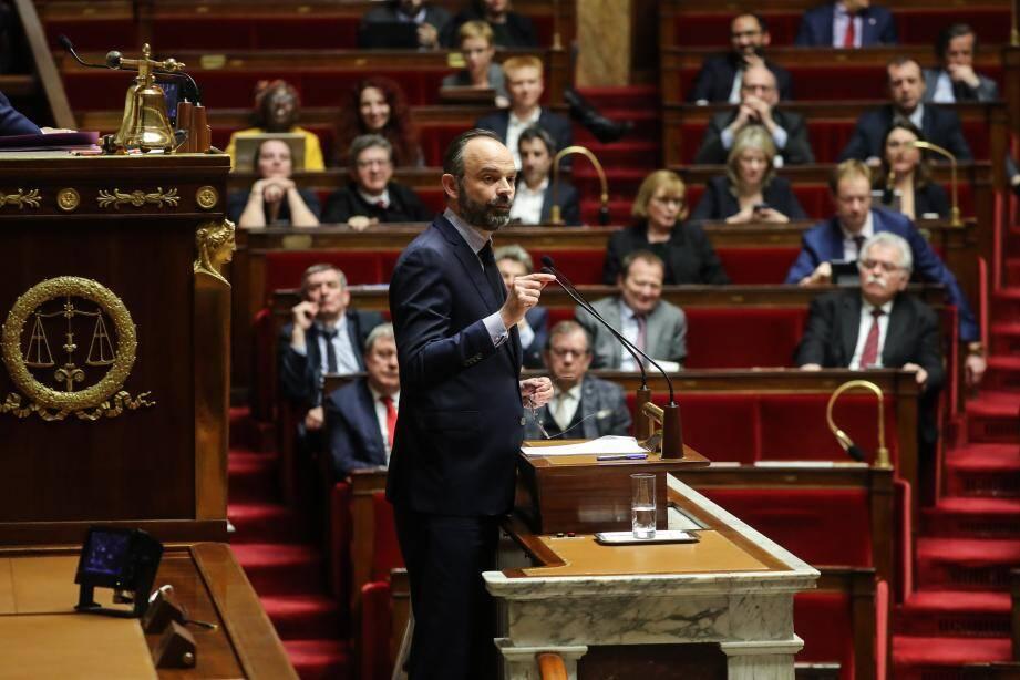 Edouard Philippe devant les députés.