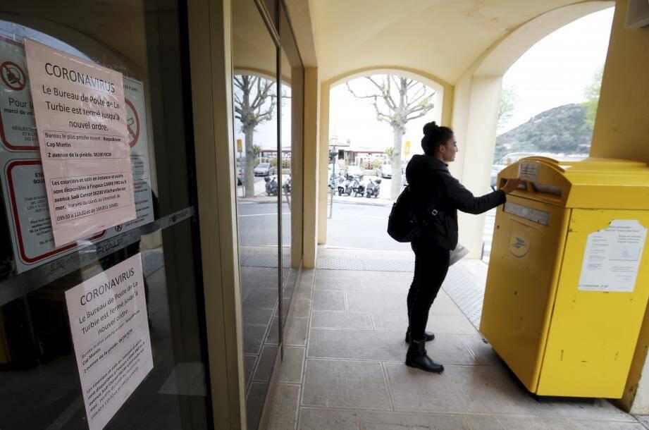 La poste de La Turbie ne figure pas encore au rang des bureaux, qui vont rouvrir leurs portes.