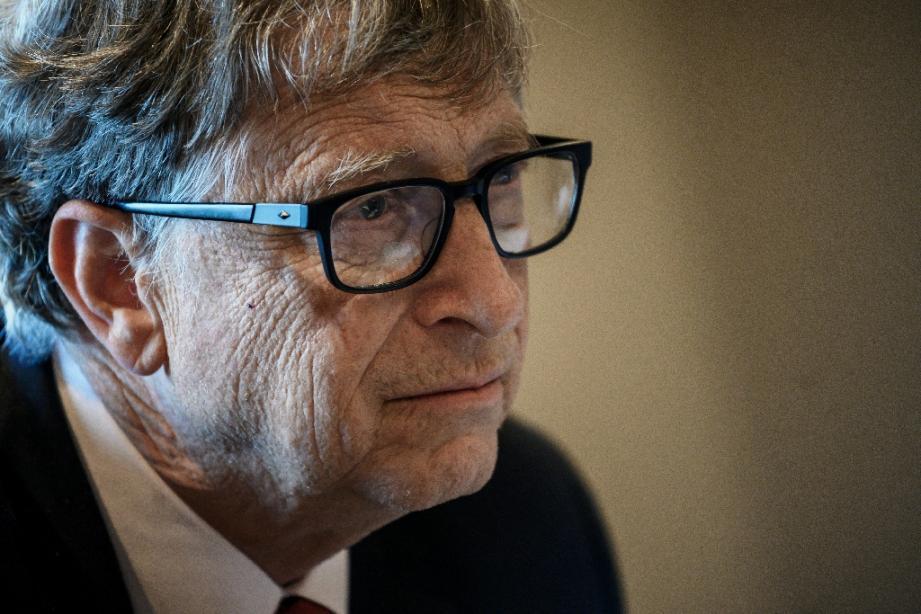 Bill Gates, fondateur de Microsoft, le 9 octobre 2019, au cours d'une conférence à Lyon.