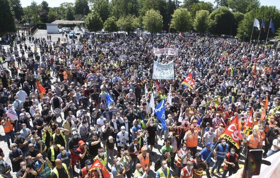 Manifestation à Maubeuge pour défendre le site Renault, le 30 mai 2020
