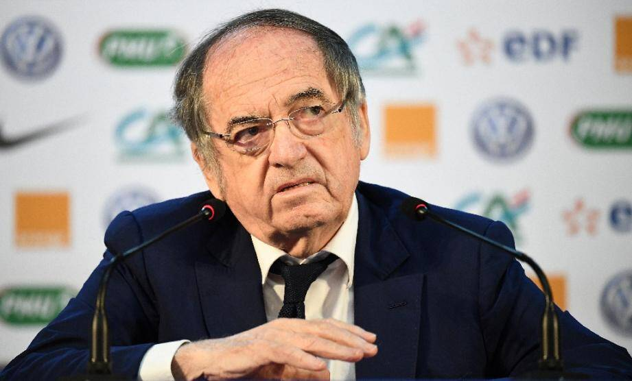 Noël Le Graët, président de la Fédération française de football (FFF), en conférence de presse pendant la Coupe du monde à Istra, en Russie, le 14 juin 2018