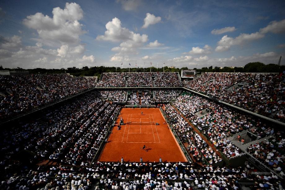 Le court central de Roland-Garros, le 8 juin 2018