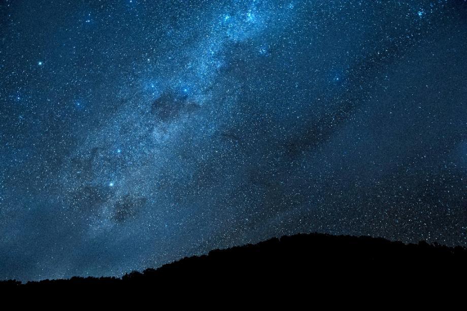 Ciel de nuit à Las Trancas, au sud de Santiago, au Chili, le 7 avril 2018