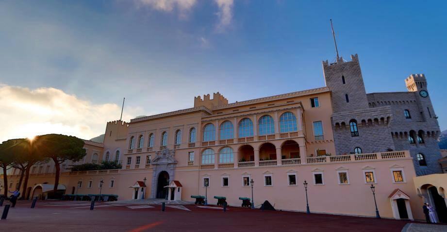 Le palais princier de Monaco.