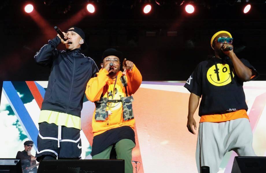 Les Black Eyed Peas en concert sur la Côte d'Azur.
