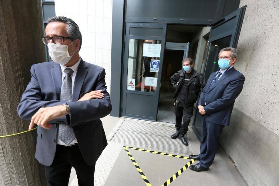 L'entrée réservée aux affaires pénales du tribunal de Draguignan.