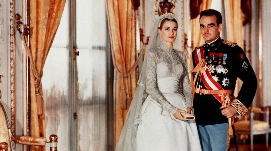 Grace Kelly et le prince Rainier III, le 19 avril 1956.