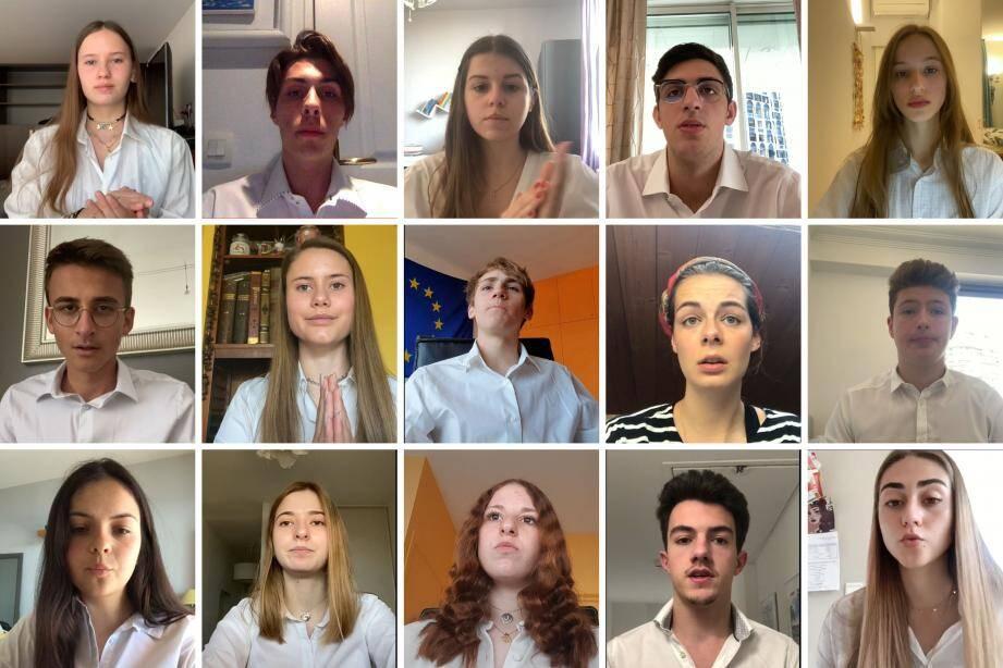 Une partie des élèves du lycée Albert-1er ont participé à ce projet pour soutenir l'organisme Aleksandr Savchuk Foundation.