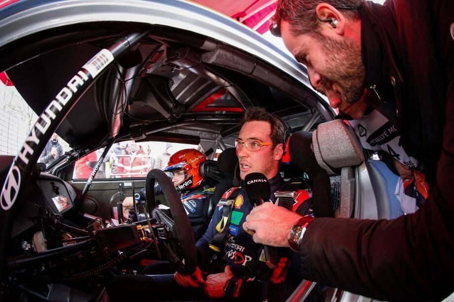 """Thierry Neuville: """"Lors de la dernière étape (du Rallye Monte-Carlo 2020), j'ai parfaitement géré mon rythme. Tout était sous contrôle."""""""