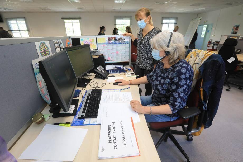 Les équipes de la plateforme Contact tracing de la CPAM son entrées en service mercredi.
