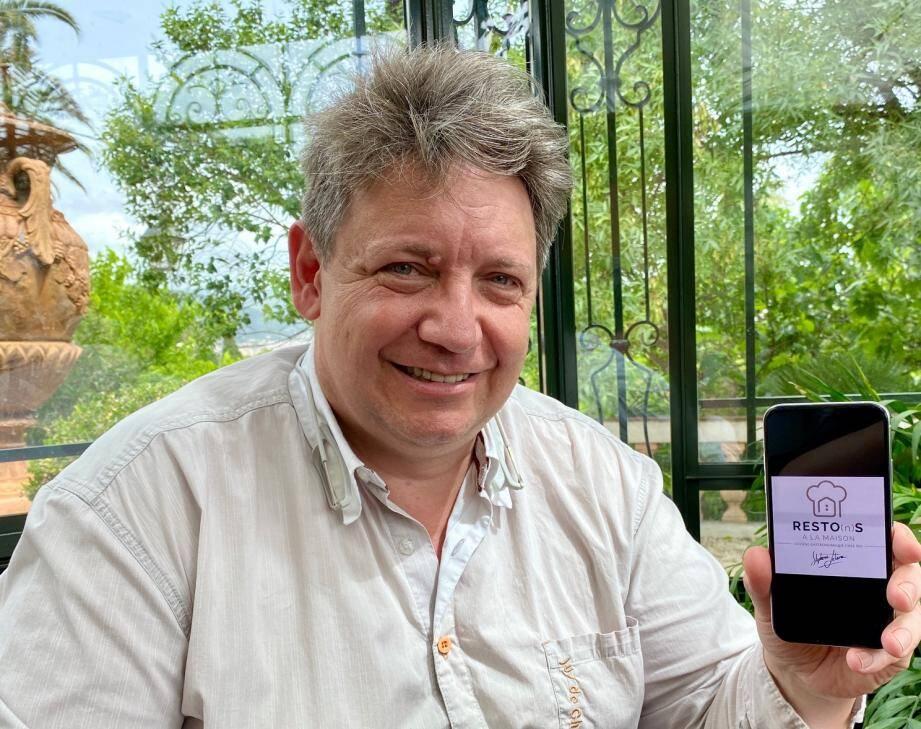 Stéphane Lelièvre a lancé le concept Resto(n)s à domicile
