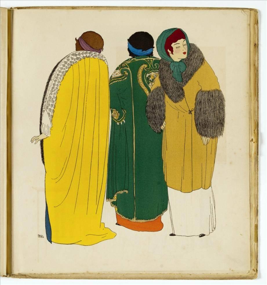 Les Robes de Paul Poiret racontées par Paul Iribe, Paris, 1908. Gravures rehaussées au pochoir. Galliera, musée de la Mode de la Ville de Paris.