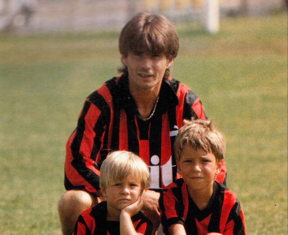 Marko avec ses enfants du temps de l'OGC Nice.