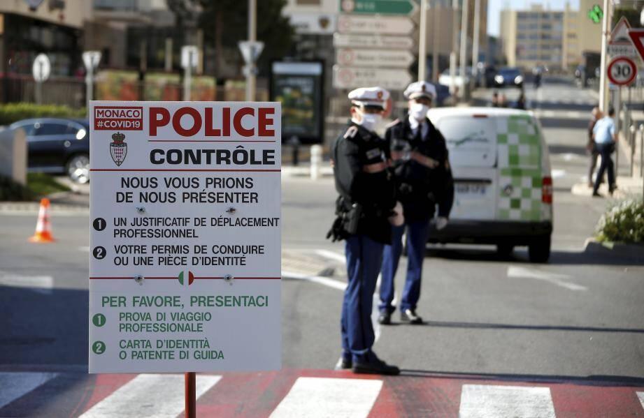 Contrôle d'accès à Monaco.
