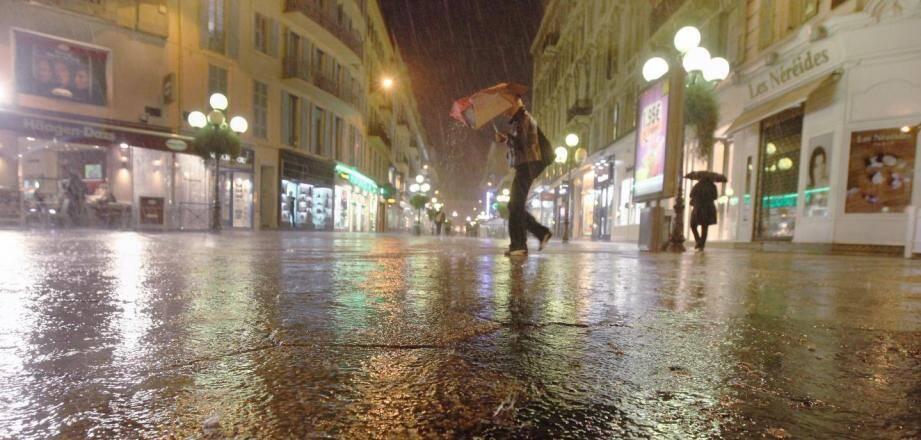 De la pluie.