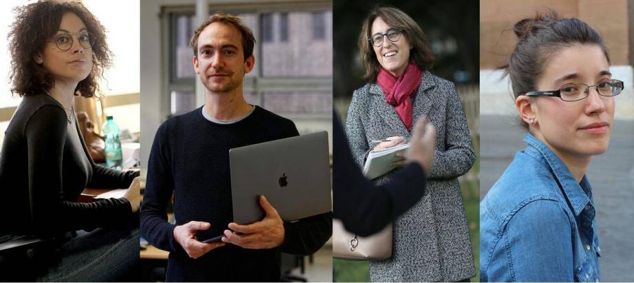 Aurore Malval, Guillaume Aubertin, Sophie Casals et Flora Zanichelli, journalistes des Solutions.