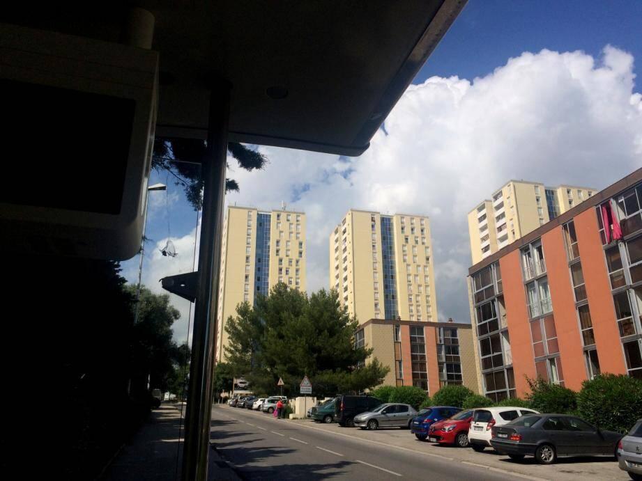 La cité de La Beaucaire dans les quartiers ouest de Toulon.