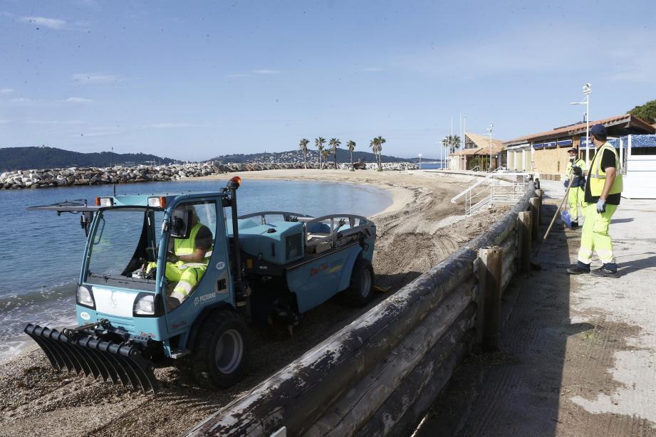 Nettoyage des plages du Mourillon ce vendredi.