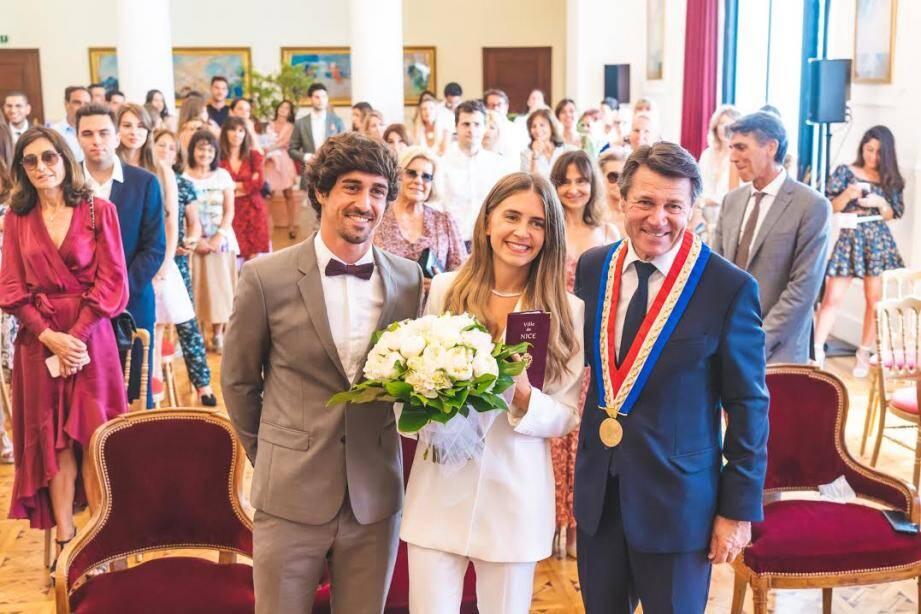 Le mariage de Grégoire Puel et Juliette Cohen célébré ce lundi marin par le maire de Nice.