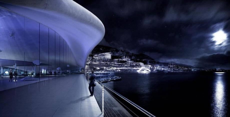 Le projet Caroli pour l'entrée du port Hercule, tel que présenté en 2016.