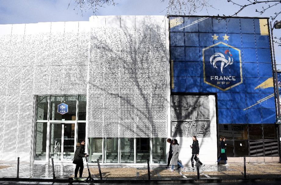 Siège de la Fédération française de football (FFF) à Paris, le 14 mars 2020.