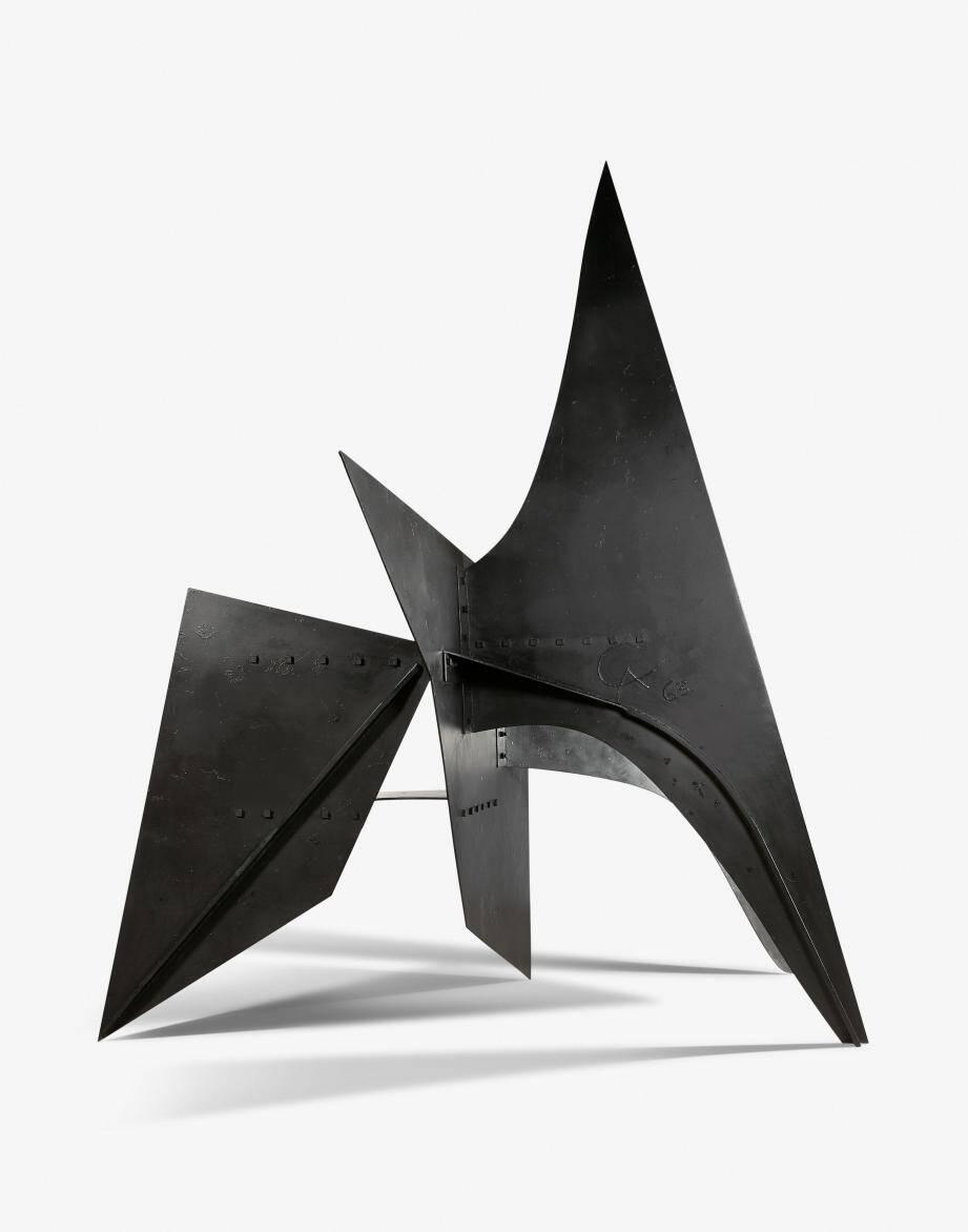 Cette sculpture imposante de 3,50 mètres de haut avait été réalisée pour l'association VVF.