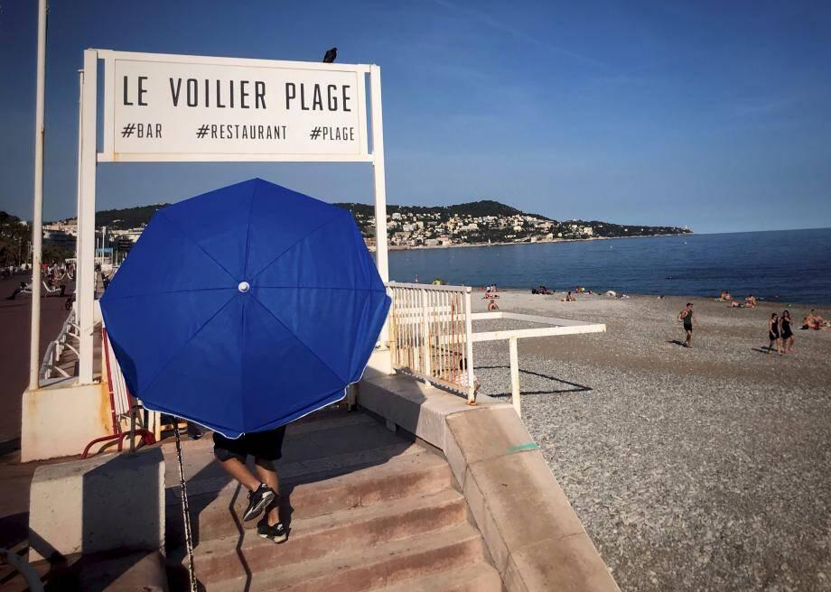 Le Voilier plage, une des trois concessions visées par l'arrêt rendu hier.