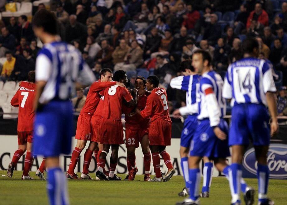 Le 8 décembre 2004, Monaco s'amusait sur le terrain de La Corogne en Ligue des Champions (0-5).
