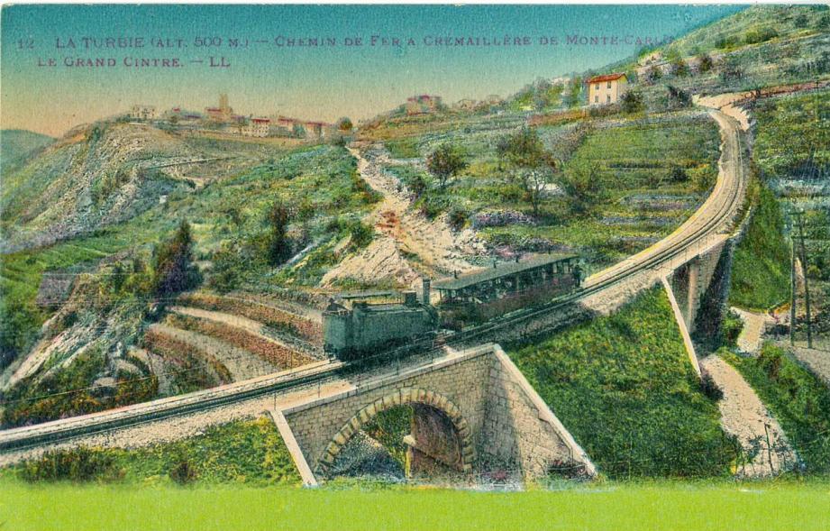 Un symbole du lien restauré entre Monaco et la Turbie : le train à crémaillère.