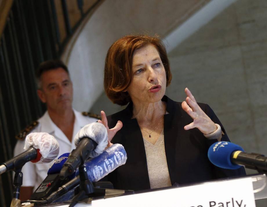 Florence Parly, le 13 juin dernier, dans l'enceinte de la préfecture maritime de la Méditerranée à Toulon.