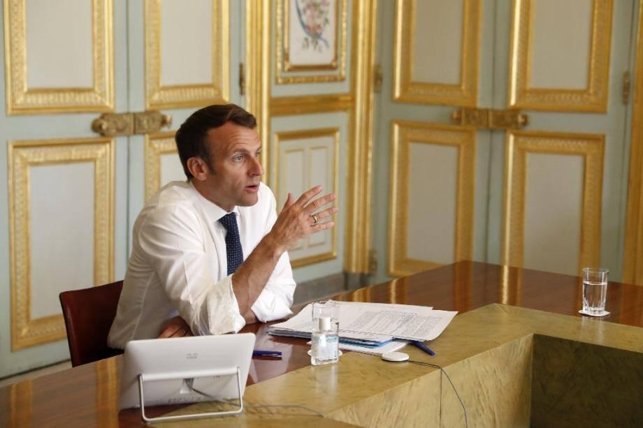 Emmanuel Macron à l'Elysée.