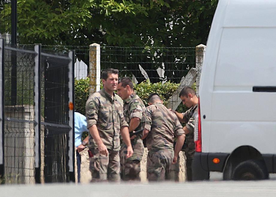 Reprise des opérations de fouilles dans la maison de Michel Fourniret à  Ville-sur-Lumes, le 22 juin 2020.