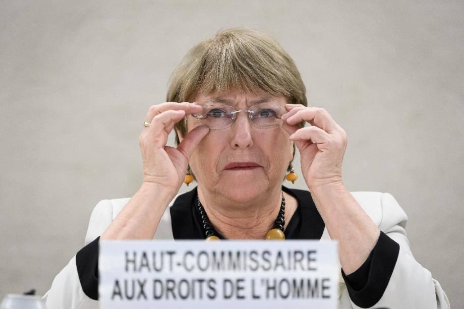 La Haut-Commissaire de l'ONU aux droits de l'Homme, Michelle Bachelet, à Genève le 18 décembre 2019