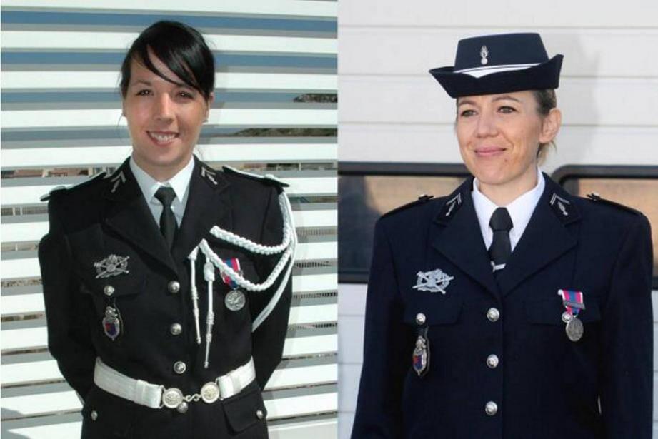 Alicia Champlon et Audrey Bertaut-Landry, gendarmes lâchement assassinées le dimanche 17 juin 2015 lors d'une intervention.