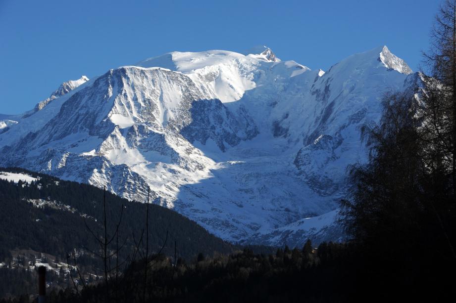 L'épicentre du séisme est situé à une vingtaine de kilomètres du massif du Mont-Blanc. Illustration.